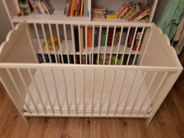 Łóżeczko dziecięce  białe Ikea 120x60