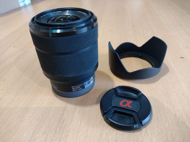 obiektyw Sony SEL2870 w super stanie, gwarancja