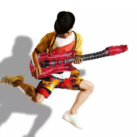 Металлизированные  надувнойт шар фигуры гитары рок диско пати