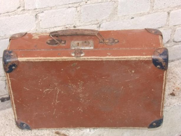 Stara walizka kartonowa ANTYK