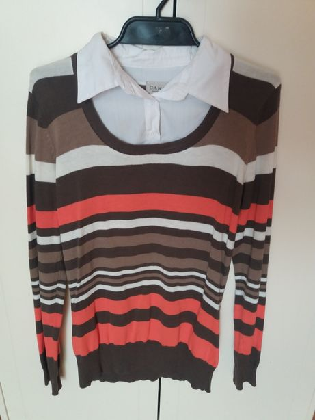 Dłuższy sweterek w paski 36/38rozm z C&A