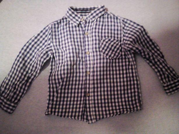Koszula w kratę dla chłopca 104