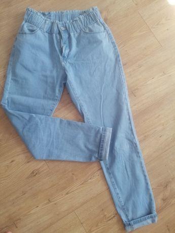 Spodnie slouch jeansy gumka L