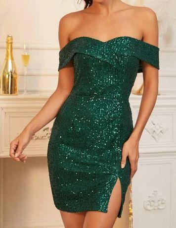 Sukienki mini cekiny XS S L nowe