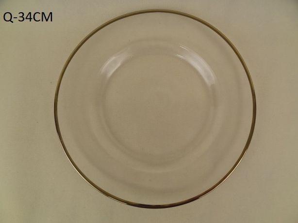 Szklane podtalerze podstawki pod talerze różne wzory