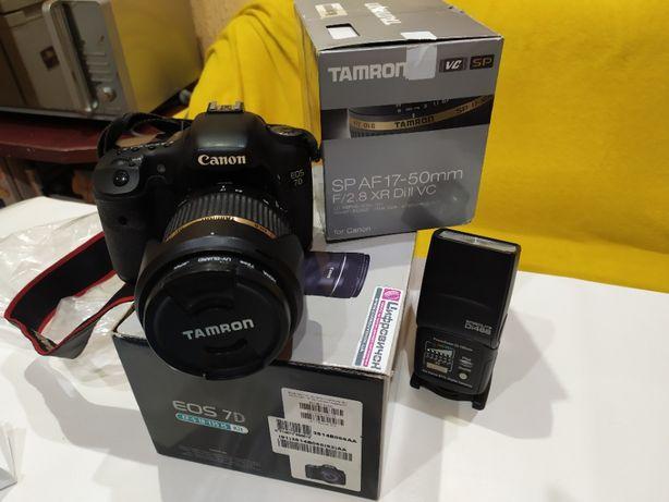 Фотоаппарат Canon EOS 7D+объектив Tamron SP AF 17-50 mm
