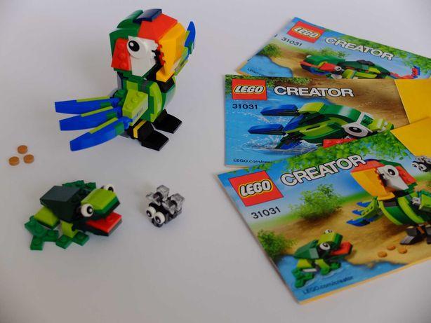 LEGO CREATOR 31031 3w1 Papuga Ryba Kameleon *Kompletny Idealny Stan