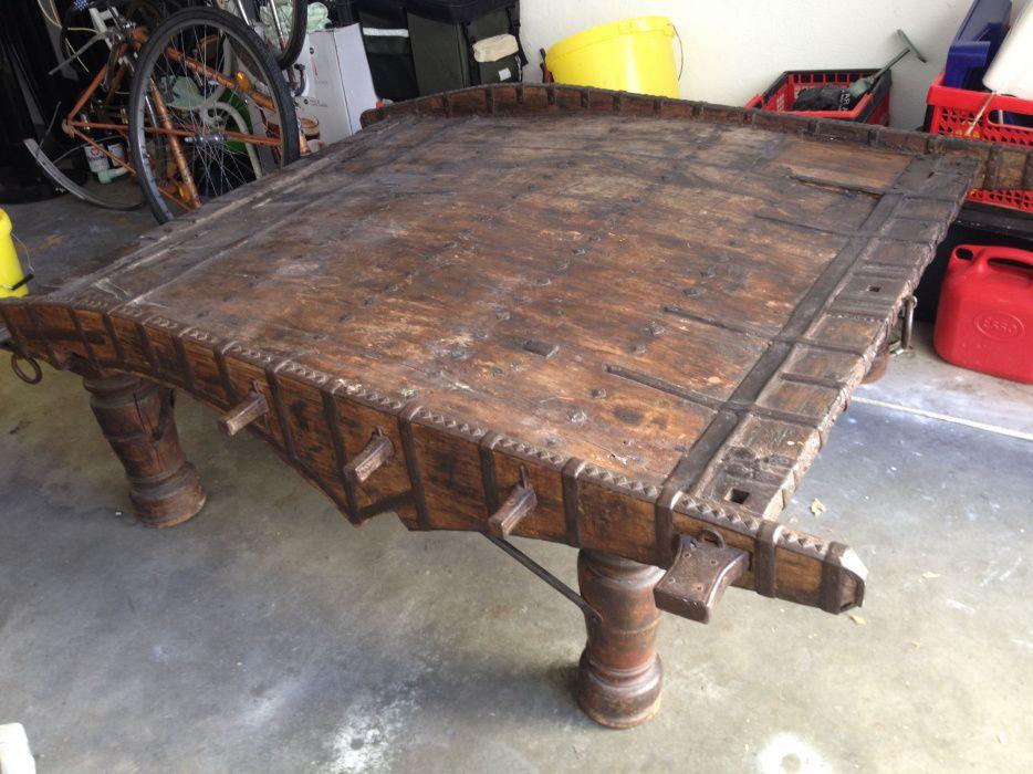 Element żaglowca z XVI wieku unikatowa ława stół