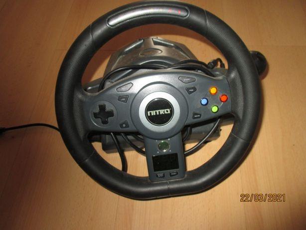 kierownica Nitro z pedałami i drążkiem zmiany biegów