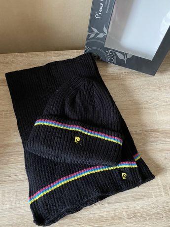 Мужской подарочный набор шапка шарф Pierre Cardin