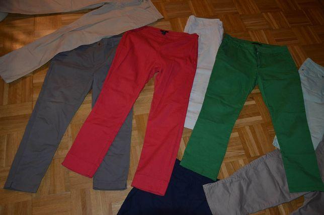 Spodnie letnie 40 - 42 M L różne długie rybaczki 7/8 H&M Papaya