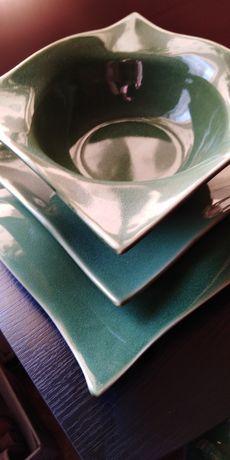 Ceramika-komplet obiadowy talerz talerze stylowy design