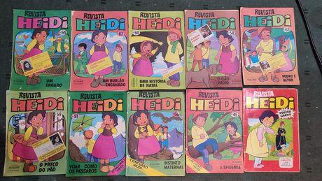 Lote 10 revistas infantis antigas Heidi
