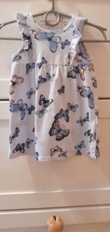 Śliczna bawełniana sukienka s. Idealny hm 80