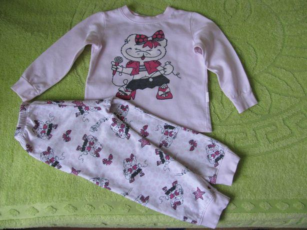 Пижама для девочки теплая байка Бемби р.104