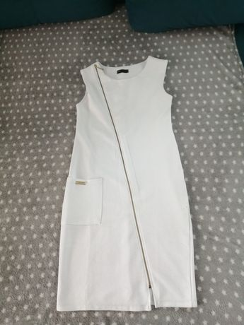 Sukienka biała rozm 40.