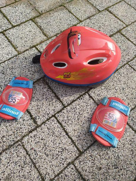 Kask zygzak McQueen dla chłopca dzieci plus ochraniacze firma Smoby