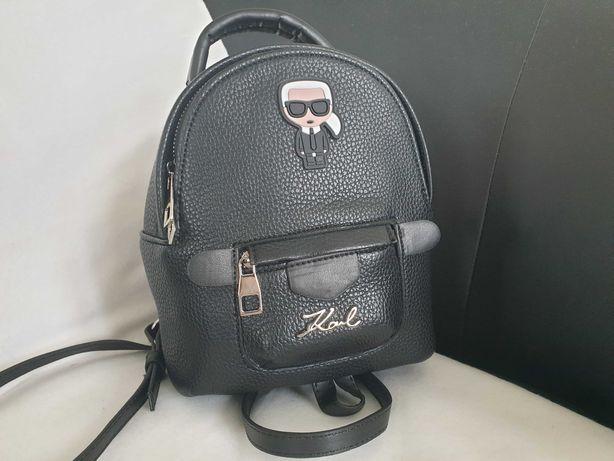 Torebka plecak Karl Lagerfeld czarny mały
