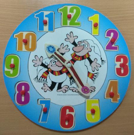 Детские обучающие часы пазлы