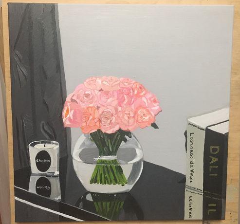 Картина «Розы на столе»