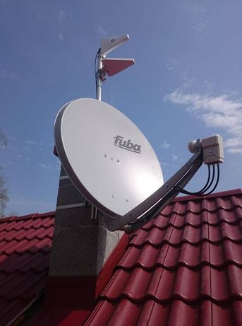 Montaż, ustawienie anteny satelitarnej oraz DVB-T Jelcz-Laskowice