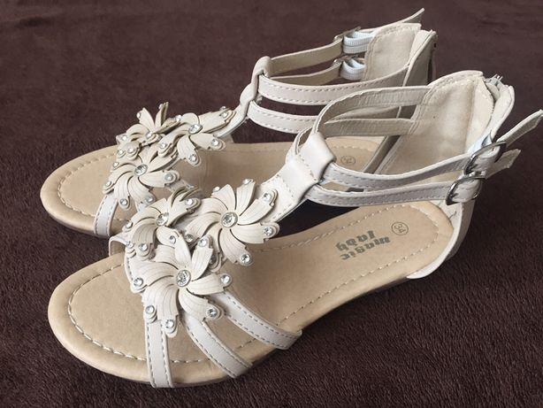 ZAŁOŻONE RAZ sandałki dziewczęce Magic Lady, r. 34, wkładka 21 cm