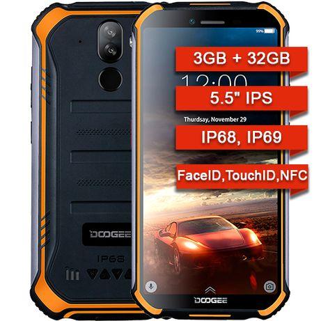 Противоударные защищенные смартфоны Doogee S40 IP68! 3Gb/32Gb NFC