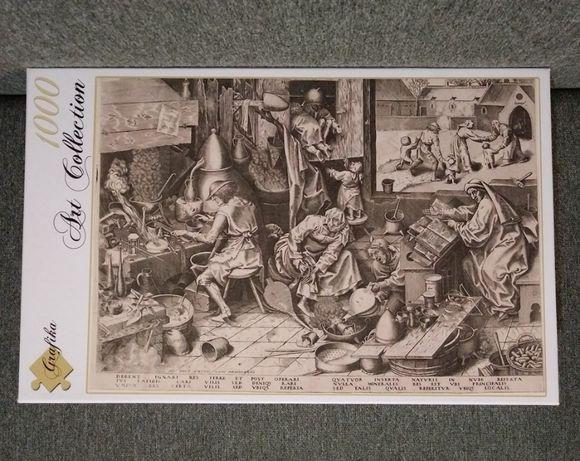 REZERWACJA Puzzle 1000 GRAFIKA Bruegel Brueghel Alchemik Alchemicy