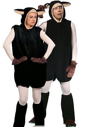 n253 kostium owieczka czarna 160-185cm