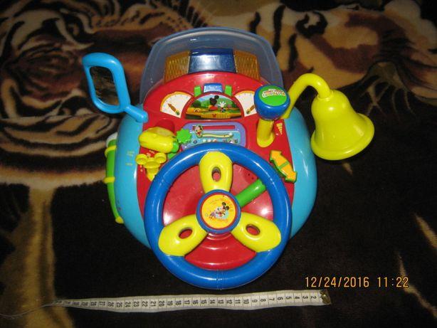 Детский игрушечный руль Юный водитель Микки Маус