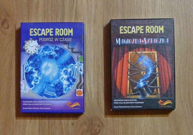 Zestaw dwóch gier Escape Room - Magiczna sztuczka i Podróż w czasie