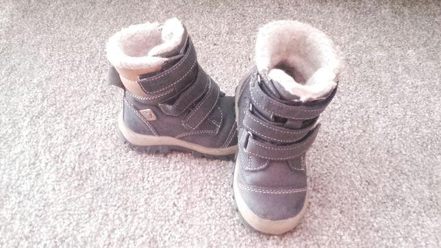 Sprzedam buty zimowe, kozaki dziecięce r. 22. Skórzane Lasocki
