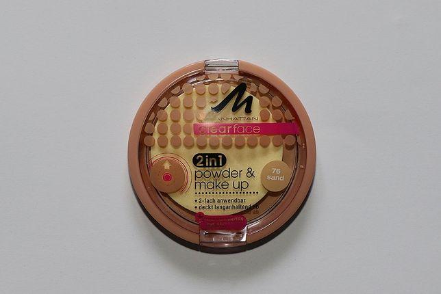 Manhattan clearface powder&make up puder i podkład sand sun beige