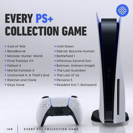 игры на аккаунт ps4 Sony Playstation 5 plus активирую ps+ collection