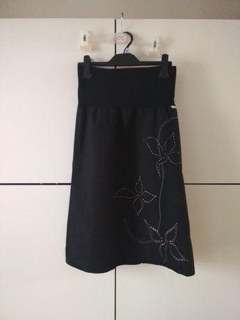 Spódniczka/spódnica ciążowa, czarna, haftowana firmy Fiu Fiu r 36