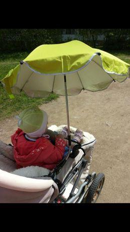 Универсальный детский зонт велосипеда, коляски с отражателем