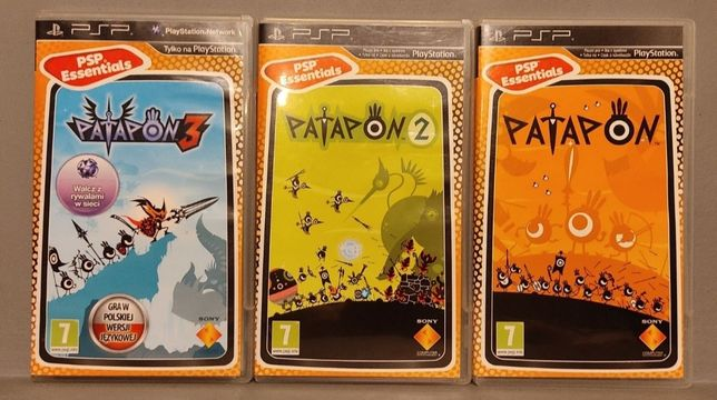 PlayStation Portable! Zestaw gier : Patapon 1, 2, 3! PSP - Polecam