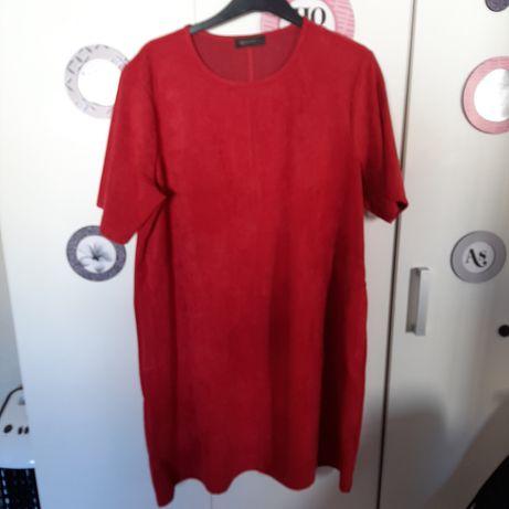 Vestido MO vermelho, fresco e prático, L