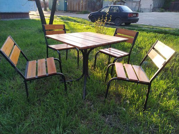 Комплект , стол 4 стула. Садовая, для улицы
