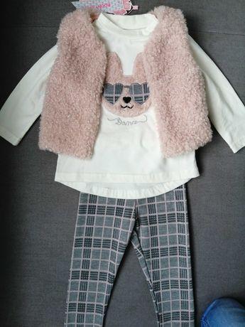 Ubranka, Komplet dla dziewczynki rozm 80 (12 m-cy)