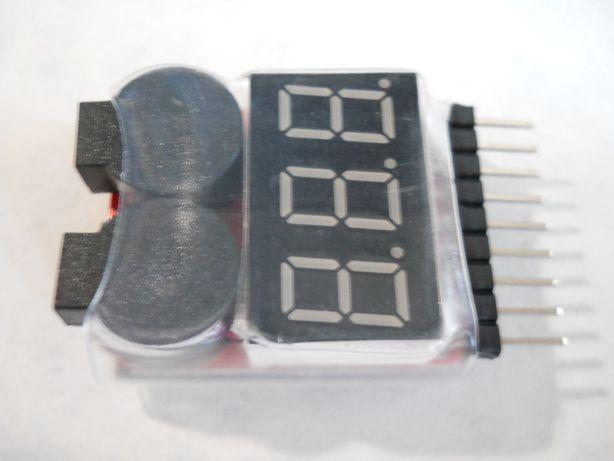 Подам Тестер for 1-8S Lipo/Li-ion/Fe Battery (traxxas, hpi, kyosho)