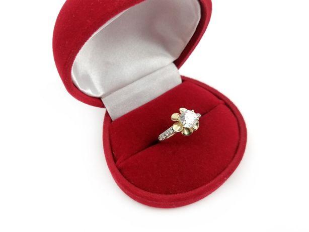 Złoty pierścionek z CYRKONIAMI 585 1,91G R12