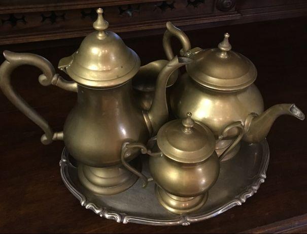 Латунный,чайно-кофейный набор .5 предметов. E.P.N.S.