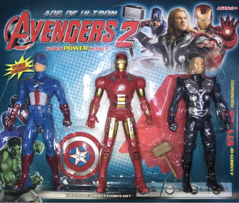 Zestaw 3 Figurek Avengers 2 dla Dzieci Zabawka Radom - image 1