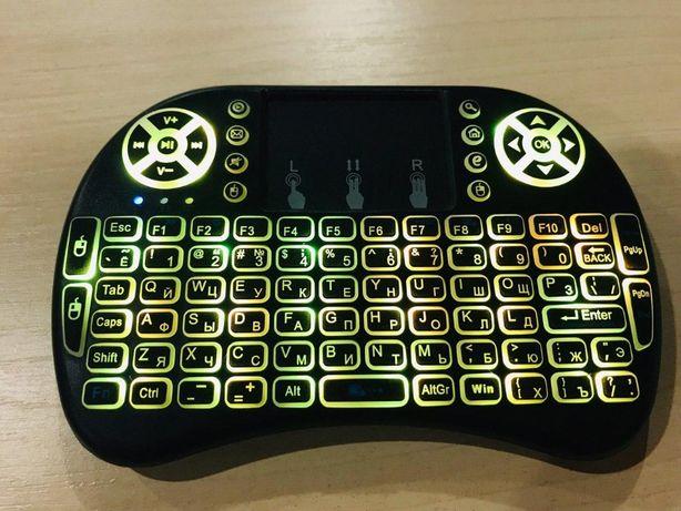 Беспроводная мини смарт клавиатура с Led подсветкой для Пк и ТВ
