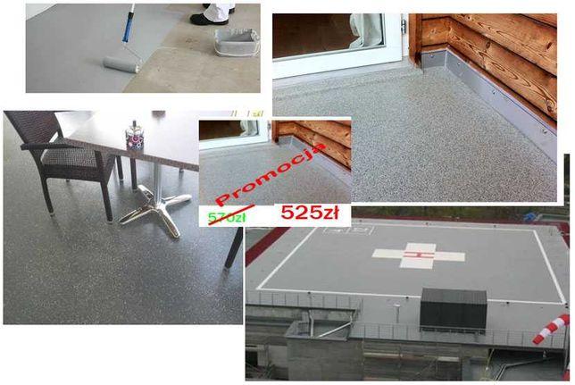 żywica uv na balkon taras 52zł/m2 komplet 10m2 zamiast kamienny dywan