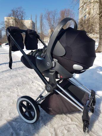Детская коляска Cybex Priam 2 в 1 Автокресло Cybex platinum CloudQ