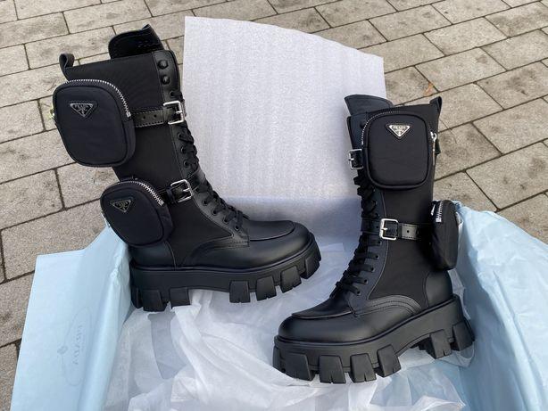 Ботинки кожаные женские Прада Киев Топ
