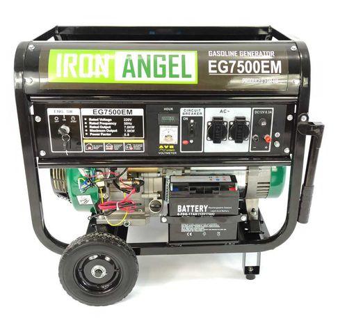 Генератор бенз. IRON ANGEL EG7500E(ном.7,0кВт-макс.7,5кВт)НОВИЙ
