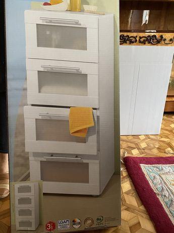 Nowe meble łazienkowe - komoda , witryna i szafka pod umywalke
